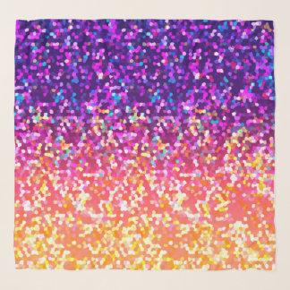 Quadratische Schal-Glitzer-Grafik Schal
