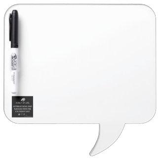 Quadratische Sprache-Blase mit Stift Memoboard