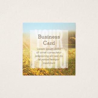 Quadratische Visitenkarte-weiße Quadratische Visitenkarte