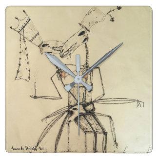 Quadratische Wand-Uhr der Liebe-#2 Quadratische Wanduhr