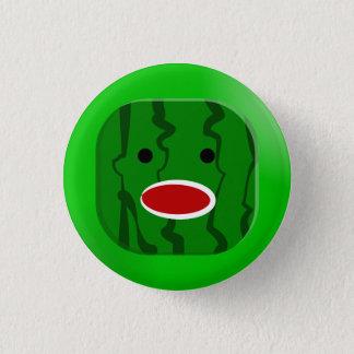 Quadratische Wassermelone Runder Button 3,2 Cm