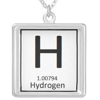 Quadratische Wasserstoffhalskette Versilberte Kette