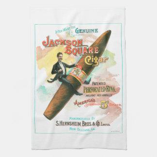 Quadratische Zigarre Jacksons Geschirrtuch