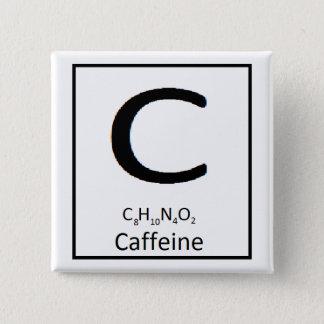 Quadratischer Koffeinknopf, 2 Zoll Quadratischer Button 5,1 Cm