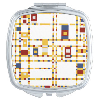 Quadratischer kompakter Spiegel Schminkspiegel