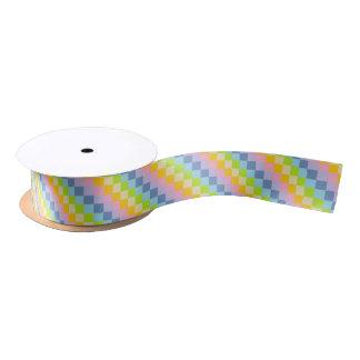 Quadratischer Pastellregenbogen Satinband