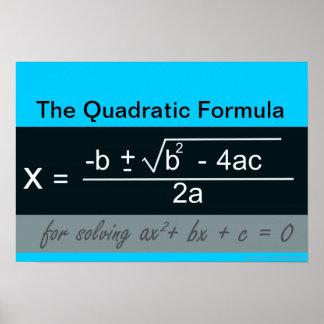 Quadratisches Formel-Mathe-Plakat Poster