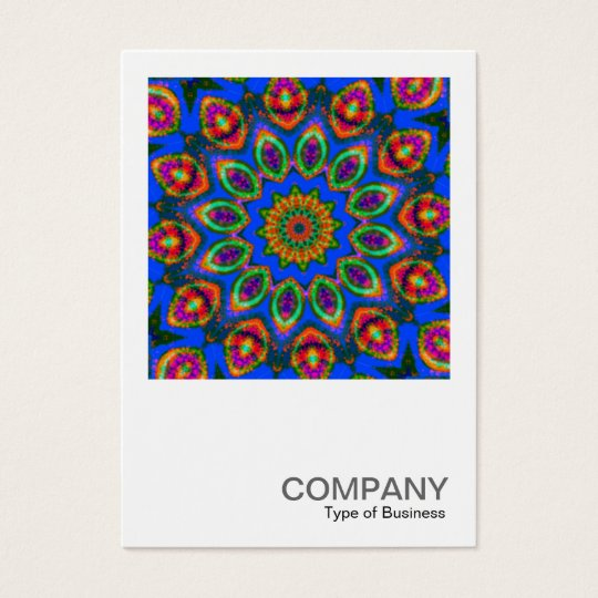 Quadratisches Foto 0111 - kaleidoskopischer Visitenkarte