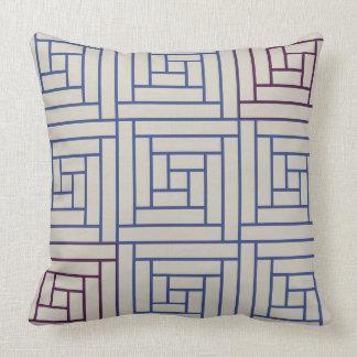 Quadratisches Gitter Kissen