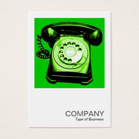 Quadratisches Grün des Foto-0124 - Hotline - Visitenkarte