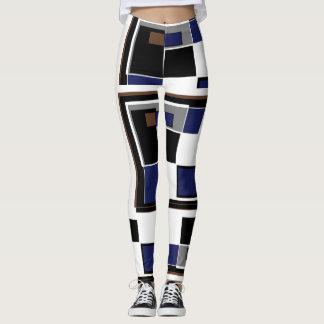 Quadratisches Muster Leggings