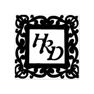 Quadratisches Rahmen-Monogramm Gummistempel