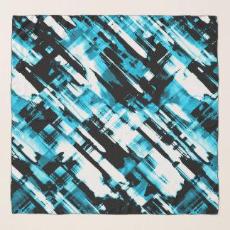 Quadratisches Schal-blaues Schwarzes abstraktes Schal