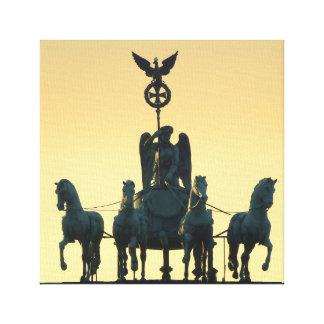 Quadriga-Brandenburger Tor 001, Berlin Leinwanddruck