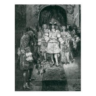 Quäker und König bei Whitehall Postkarte