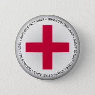 Qualifizierte erster Helferin-ärztliche Betreuung Runder Button 5,7 Cm