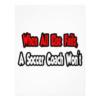 Quand échoue tout autrement, un entraîneur du foot prospectus personnalisés