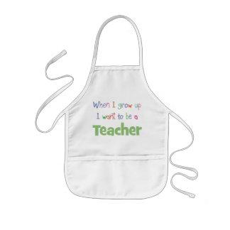 Quand je grandis le professeur tablier enfant