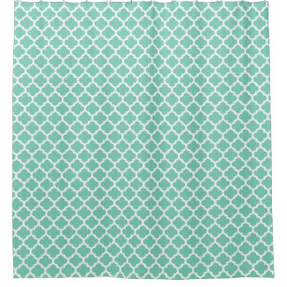 Quatrefoil Gitter-Gitter-Muster-Auswahl die Farbe Duschvorhang