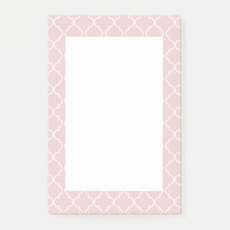 Quatrefoil Muster-Rosa-Lachspost-itanmerkungen Post-it Klebezettel