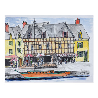 Quay Franklin, Heiliges-Goustan | Auray, Bretagne Postkarte