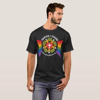 """""""Que stehe ich"""" T - Shirt (auf dunklem Gewebe)"""
