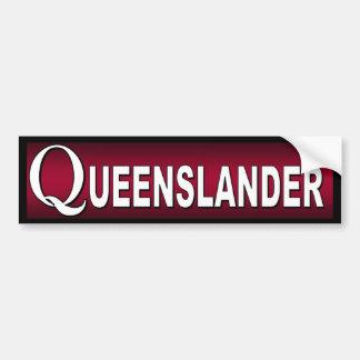 Queenslander. Australier, die in Queensland wohnen Autoaufkleber