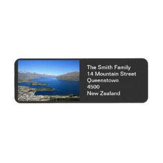 Queenstown NZ, kundengerechtes Adressen-Etikett Kleiner Adressaufkleber