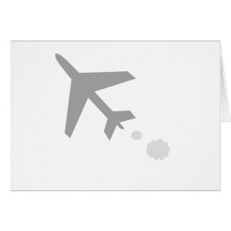 quelque chose avion ; avion carte de vœux