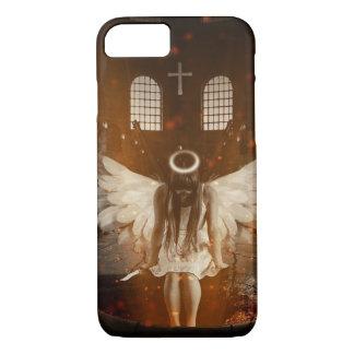 Quer- und mystischer Engel, der Messer hält iPhone 7 Hülle