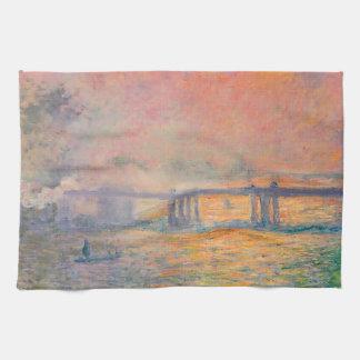 Querbrücke Claude Monets Charing Geschirrtuch