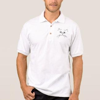 Quere mit Augen Katze Polo Shirt