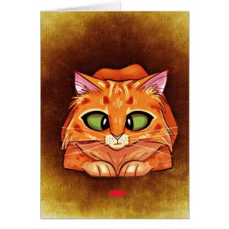 Querer mit Augen hübscher Kitty Karte