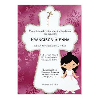 Queres heilige Kommunions-Mädchen 12,7 X 17,8 Cm Einladungskarte