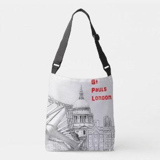 Querkörper-Taschen-Tasche - St. Pauls und Big Ben Tragetaschen Mit Langen Trägern