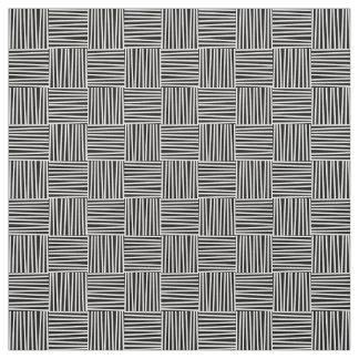 Querluken-Muster, Gekritzel-Muster, Linien, Retro Stoff