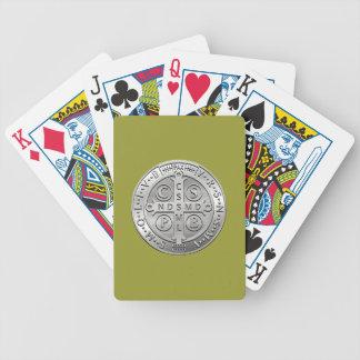 Quermedaille St. Benedict Bicycle Spielkarten