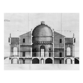 Querschnitt des Landhauses Rotonda nahe Postkarte