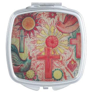 Querspiegel der Vintagen mexikanischen Taschenspiegel