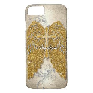 Querw-Glitter-Diamant-Juwel-Blick-Engel Wings iPhone 8/7 Hülle