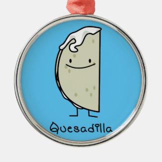 Quesadilla-Mexikaner gegrillte Tortilla mit Käse Silbernes Ornament