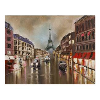 Quet regnerische Straße Postkarte
