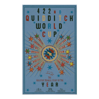 QUIDDITCH™ Weltmeisterschaft-Blau-Plakat Poster