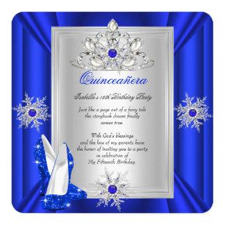 Quinceanera 15 Geburtstags-Party-königliches Quadratische 13,3 Cm Einladungskarte