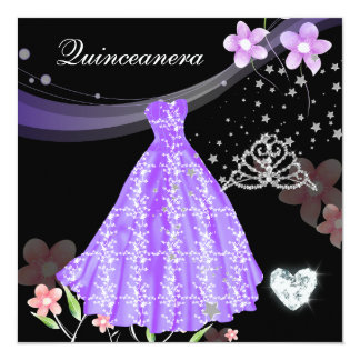 Quinceanera 15. Geburtstags-Party Quadratische 13,3 Cm Einladungskarte