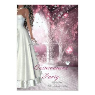 Quinceanera 15. Geburtstags-Party-weißes Kleid 12,7 X 17,8 Cm Einladungskarte