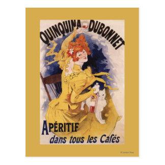 Quinquina Dubonnet Aperitif-förderndes Plakat Postkarte