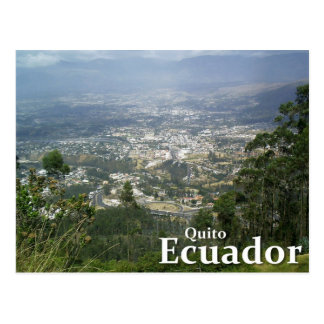 Quito, Ecuador vom Metropolitano Park Postkarte