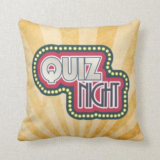 Quiz-Nachttrivia-Party-Sonnendurchbruch Kissen