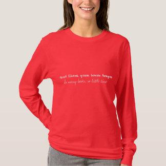 Quot Libros quam Breve-TEMPUS T-Shirt